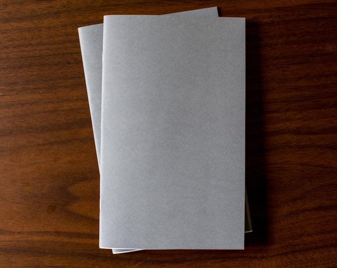 Dark Gray Notebooks - 2 Pack Journal, Planner, Journal Insert, Planner Insert Mini Diaries, Jotters, Blank Books, Paper Notebook, bulk