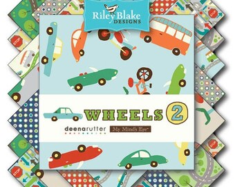 "Wheels 2 10"" Stacker - Deena Rutter - Riley Blake Designs"