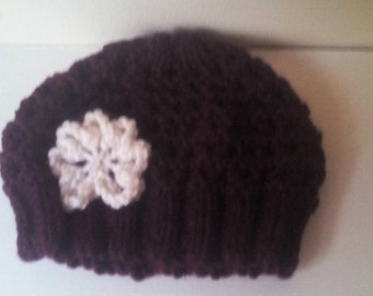 Baby girl beanie hat, girl beanie hat, Crochet beanie hat, Crochet girl hat, girl hat 6-12 month's, ready to ship
