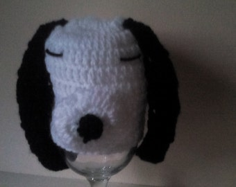 Crochet snoopy hat, baby snoopy hat, newborn snoopy hat, snoopy hat, ready to ship