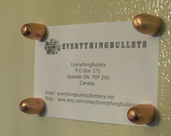 Bullet Fridge Magnets, Copper 45 ACP, Package of 4 Bullet Fridge Magnets