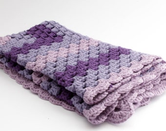Crochet Baby blanket // Granny Square // Purple // Baby Girl // Baby Boy