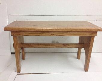 Solid Oak Bench Cstom Order For calahill