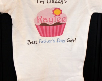 Father's Day Cupcake Daddy's best father's day gift bodysuit or t-shirt