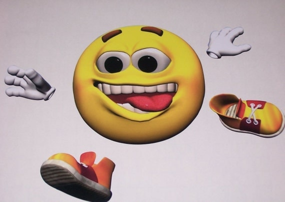 Running Guy Emoji Children Bedroom Wall Stickers