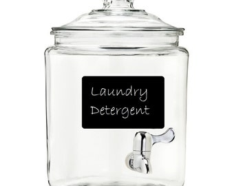 Laundry Detergent and Fabric Softener Jars with Stainless Steel Pouring Spigot