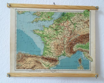 Vintage Map Travelmap Decor