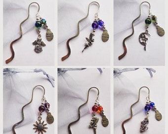 Beautiful Handmade Special Teacher silver-tone bookmark -various designs Teacher Gift