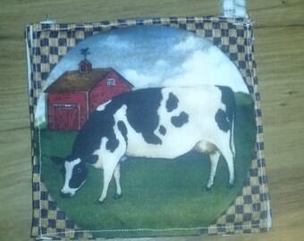 Cow Farm Pot Holder/Hot Pad