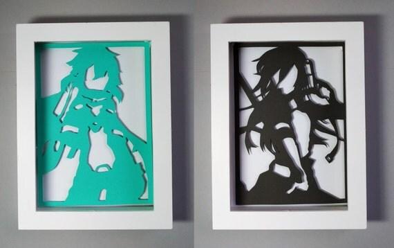 Sinon eog et kirito p e en ligne art noir turquoise et blanc - Couper morceau mp3 en ligne ...