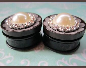 """Beautiful wood Wedding EAR PLUGS pretty earrings pick gauge 7/16, 1/2, 9/16, 5/8, 11/16, 7/8, 1, 1 1/16"""" aka 12, 14, 16, 18, 22, 25, 28mm"""