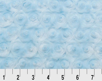 Rose Cuddle in Baby Blue by Shannon Fabrics