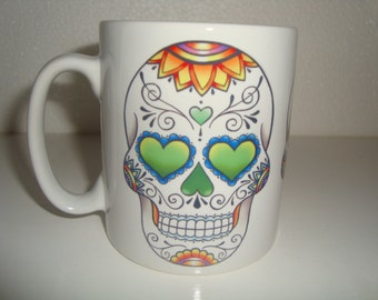 Sugar Skull mugs original design 10oz ceramic mugs UK