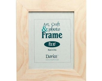 Unfinished Natural Wood Craft Frame - 8 x 1.75 x 10 inches CLEARANCE FR02