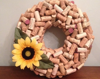 Wine Cork Wreath (Small)