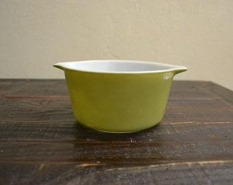 Vintage Pyrex Verde Round Casserole 1 Quart #473