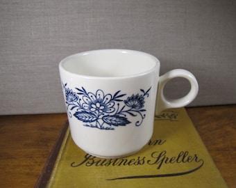 Blue and White Flowered Mug