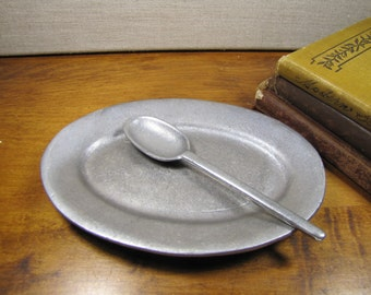 Tavern Pewter Small Platter and Spoon