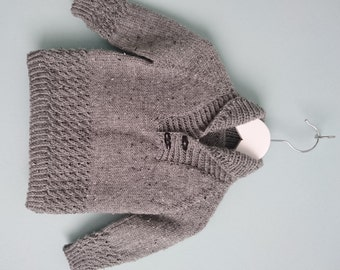 """Hand knitted Boy's Sweater for age 1-2 years approx. (22"""" chest)"""