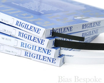 50 Yard Box of Rigilene Polyester Boning, Available in Two Widths, Black and White