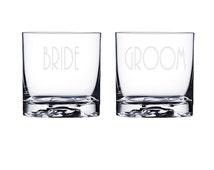 Personalized Bride and Groom Whiskey Glasses / Custom Etched Wedding Gift / Rocks Glass / Liquor Glasses /  48 DESIGNS! / Set of 2 Glasses