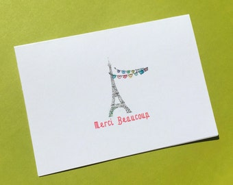 Thank You Merci Beaucoup pack of 6