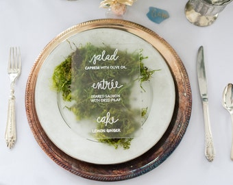 SAMPLE Hand-Lettered Acrylic Menu | Wedding or Event Menu | Custom Calligraphy | SAMPLE MENU