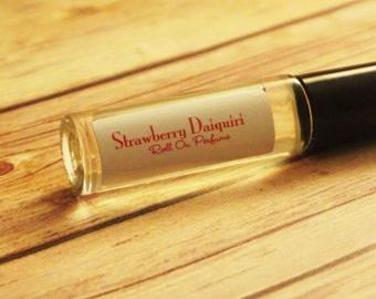 Strawberry Daiquiri Handmade Roll On Perfume Oil/Fruity Feminine Summer Scent/Long Lasting - Simple Ingredients/Vegan