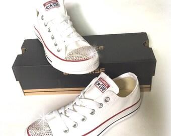 Swarovski Converse Sneakers, Swarovski Converse Shoes, Wedding Converse, Crystal AB Swarovski Sneakers, Crystal Shoes, Bling Converse