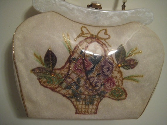 Vinyl and Lucite Bag By Rialto