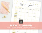 Printable Meal Planner - Healthy Note List - Printable organizer - Instant Download - Print at home
