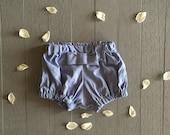 Cornflower blue bow bloomers / shorts / shorties