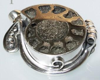 Russian Ammonite Sterling Silver Pendant