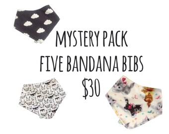 Mystery Pack - Five Bandana Bibs