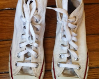 Converse high top Chuck Taylor All Star used white canvas US women 7,5 men 5,5 UK 5,5 EU 38
