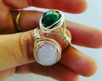 Custom Wire wrapped rings