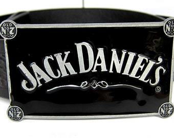 Jack Daniels Buckle and Leather Belt