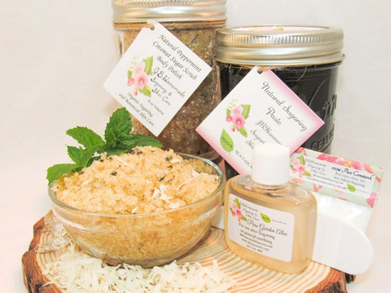 Sugaring Paste & Peppermint Coconut Sugar Scrub Bundle