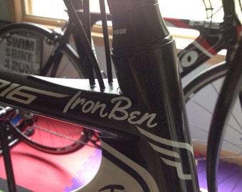 Bike Helmet Decal Etsy - Custom vinyl decals bicycle