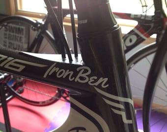 Bike Helmet Decal Etsy - Custom vinyl decals for bikes