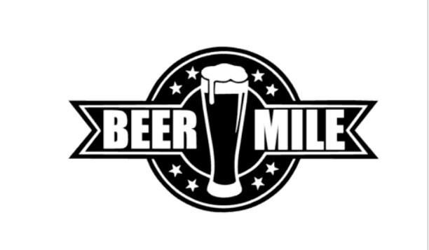 Sticker 5 mile run - Beer Mile Vinyl Decal Sticker