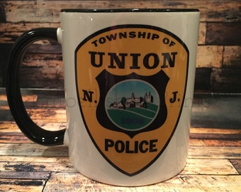 Customizable Union Police Patch Mug/Any Department Can be Used