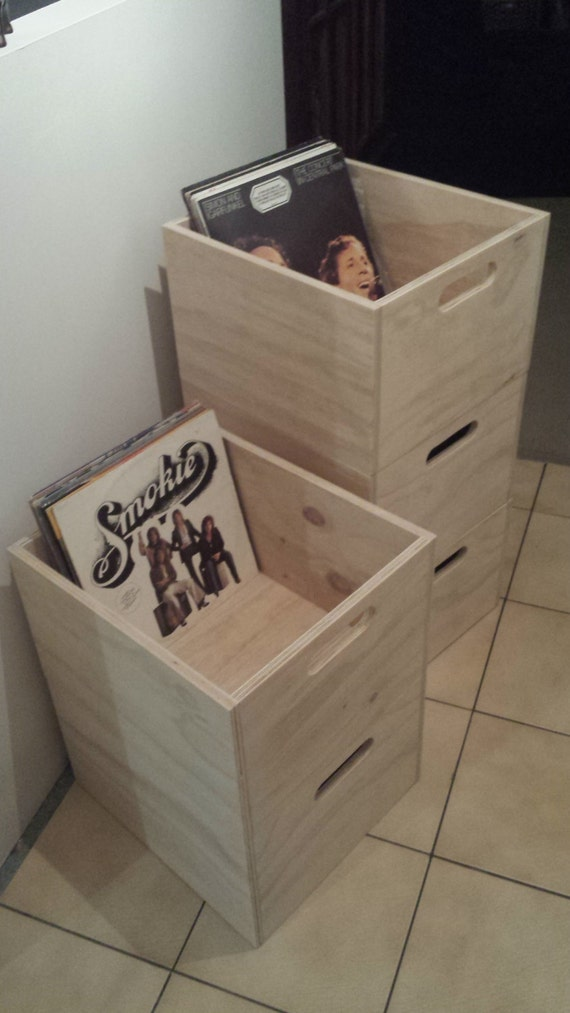 Vinyl Record storage crate storage cube by