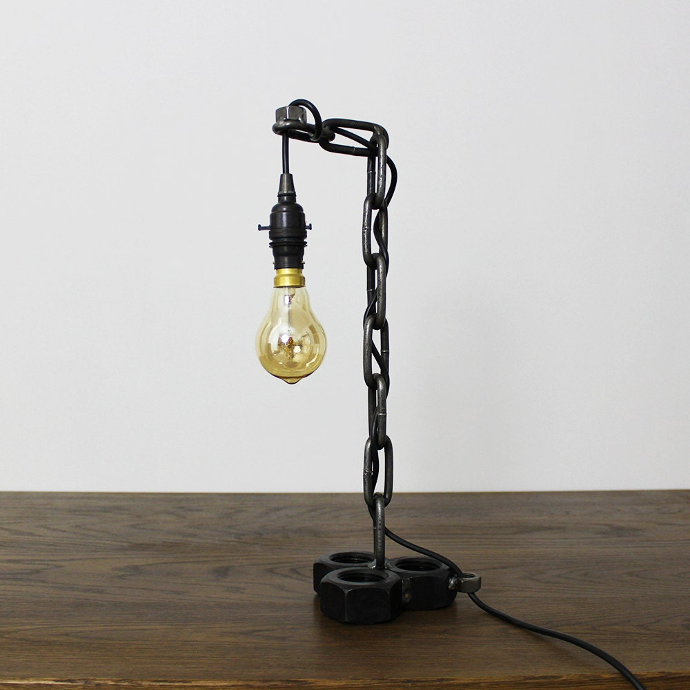 Industrial Style Chain Table Desk Lamp Light