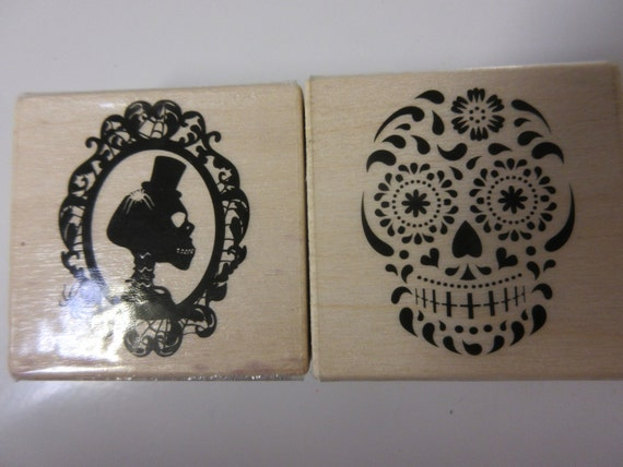 Halloween Stamps-Day Of The Dead Stamp-Sugar Skull Stamp ...