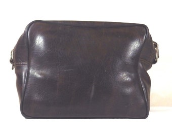 Camera Case Vintage 1980's Brown Leather (Faux?)