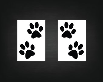 Pawprints Decals Two Pack - Dogs Car Sticker, Pets Decals