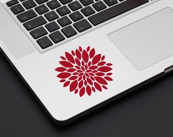 Pretty Flower Decal - Vinyl Decal, Laptop Decal, Car Sticker, Home Decor