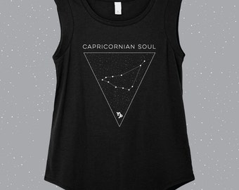 Capricornian Soul   Capricorn Sleeveless Shirt