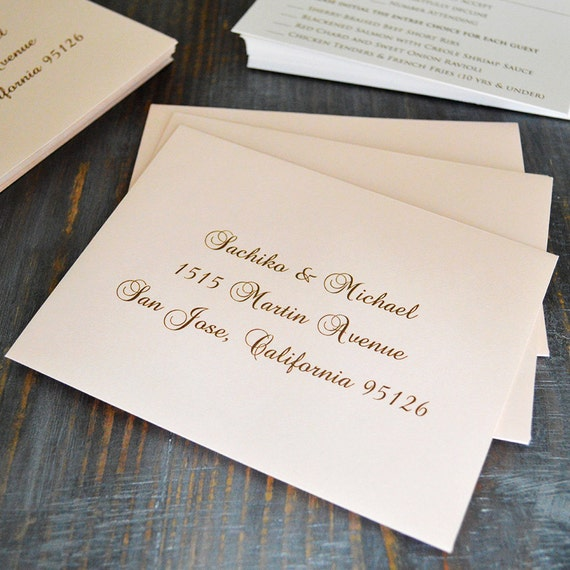 Envelope Addressing - Digital Calligraphy for Wedding Invitation Envelopes - RSVP Envelopes - Custom Fonts Available